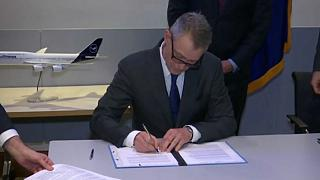 The signing of the letter of intent in Berlin, January 20th.