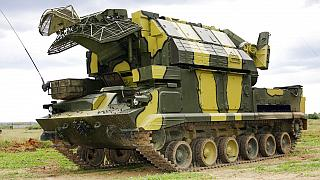 A 2005 file photo of a Russian Tor-M1 missile system similar to those supplied to Iran