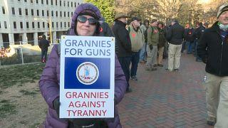 A Richmond, manifestation contre le contrôle des armes à feu