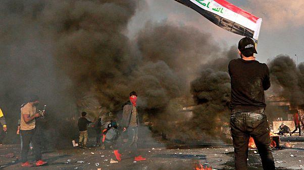 بحران عراق؛ نیروهای امنیتی دستکم یک معترض را در بغداد کشتند