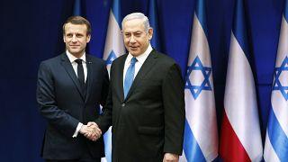 """ماكرون: """"إنكار وجود إسرائيل كدولة"""" يعتبر من أشكال معاداة للسامية"""