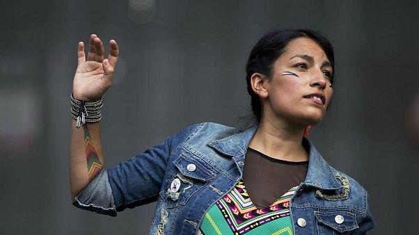 Ana Tijoux bei einem Auftritt