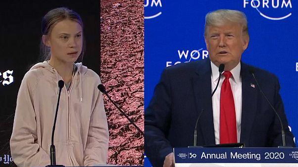 Greta Thunberg ve ABD Başkanı Donald Trump Dünya Ekonomi Forumu'nda konuştu
