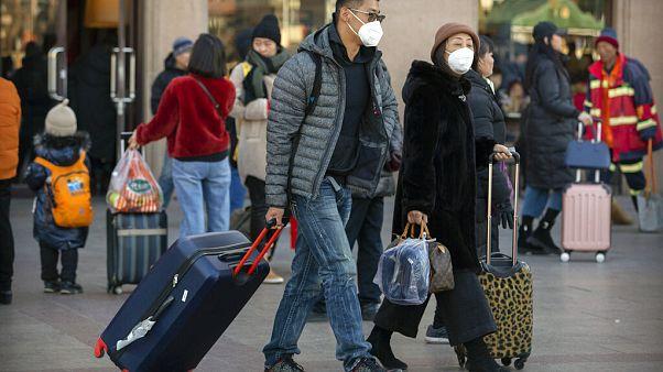 Travelers Beijing Railway Station