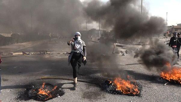 Gewaltsame Demonstrationen in Bagdad