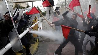 Ένταση στο τέλος του εκπαιδευτικού συλλαλητηρίου στην Αθήνα