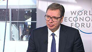 Aleksandar Vučić was speaking to Euronews at the World Economic Forum in Davos