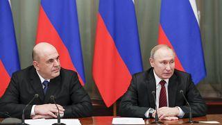 Rusya Başbakanı Mihail Mişustin ve Rusya Devlet Başkanı Vladimir Putin
