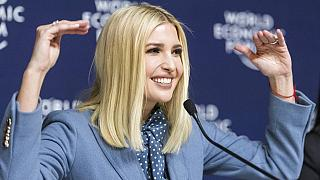 Ivanka Trump, senior adviser to U.S President Donald Trump, speaks during a press conference at the World Economic Forum in Davos