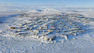 خليج يوكسوك في ألاسكا التي شهدت عمليات إحصاء قبل أن تشتري الولايات المتحدة الأرض من روسيا في 1867.