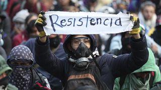 La violencia empaña la primera protesta del año en Colombia
