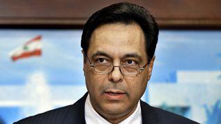 رئيس الحكومة اللبنانية المستقيل حسان دياب
