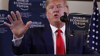 Trump boasted of his economic success and said he had met Usrula von der Leyen at Davos.