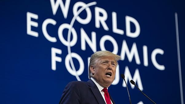الرئيس الأمريكي دونالد ترامب في منتدى دافوس