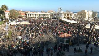 Χίος: Μαζική κινητοποίηση κατά του σχεδιασμού για το μεταναστευτικό