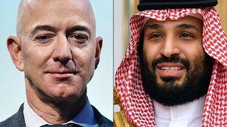 ولي العهد السعودي محمد بن سلمان ومؤسس شركة أمازون جيف بيزوس