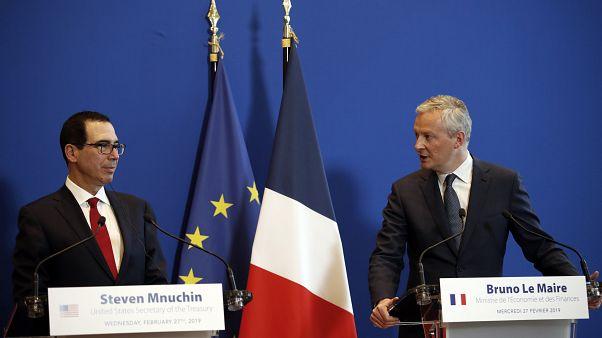 Fransa Maliye ve Ekonomi Bakanı Bruno Le Maire ve ABD'li mevkidaşı Steven Mnuchin