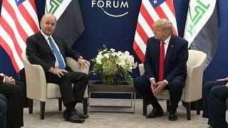 دونالد ترامپ در پاسخ به اینکه آیا عراق را تحریم میکنید: باید ببینیم