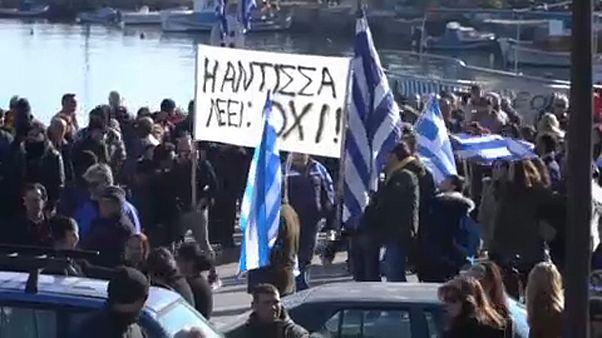 Tüntetés a görög szigeteken