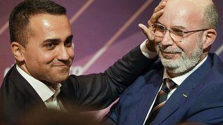 Luigi die Maio (l.) mit Interimsparteichef Vito Crimi (r.)