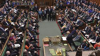 UK Prime Minister Boris Johnson addresses the House of Commons, January 15, 2020.