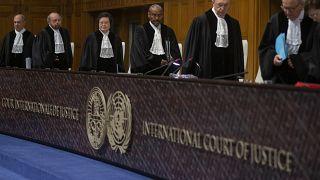 Juges de la Cour internationale de justice à La Haye, le 23 janvier 2020