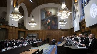 Uluslararası Adalet Divanı'nın ahşap duruşma salonu