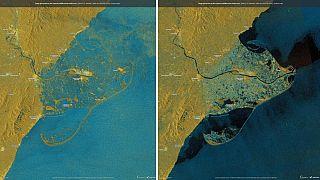 İnteraktif: İspanya'da Ebro Deltası'nı harap eden Gloria Kasırgası'nın etkisini gözlemleyin