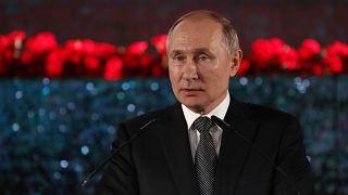 Russian President Vladimir Putin in Jerusalem on January 23, 2020.