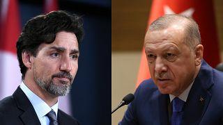 Kanada Başbakanı Justin Trudeau ve Cumhurbaşkanı Recep Tayyip Erdoğan
