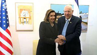 رئیسجمهوری اسرائیل به نانسی پلوسی: شما کنار ما هستید