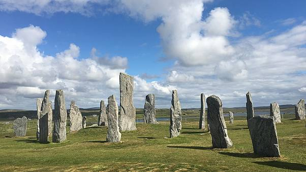 The Callanish Stones heritage site on the Isle of Lewis, part of Na h-Eileanan Siar, Scotland