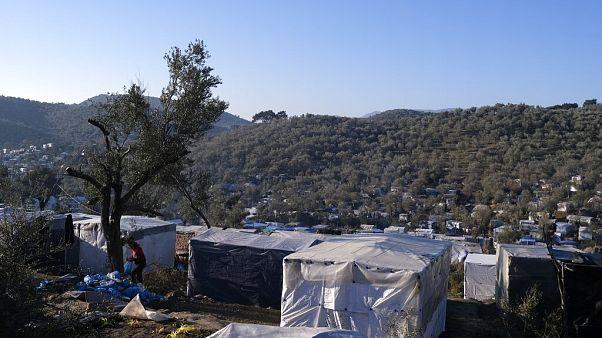Campo de refugiados de Moria en la isla de Lesbos, norte del Egeo