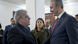 AP'nin yeni Türkiye Raportörü Nacho Sanchez Amor, Adalet Bakanı Abdulhamit Gül ile görüştü