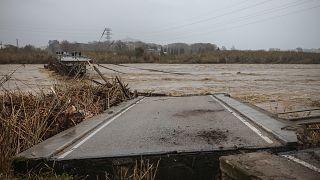 Les ravages de la tempête Gloria en Espagne