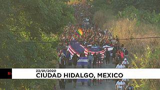 کاروان مهاجران هندوراسی وارد مکزیک شد