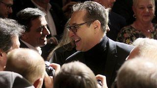 Heinz-Christian Strache,  The Alliance for Austria, DAOE, in Vienna, Austria, Thursday, Jan. 23, 2020. (AP Photo/Ronald Zak)