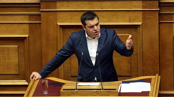 Ο Αλέξης Τσίπρας στο Βήμα της Βουλής(αρχείου)