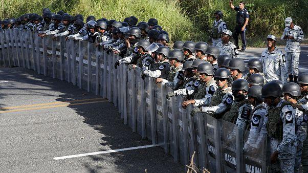 "Nationalgarde stoppt ""Karawane 2020"" an Grenze zu Guatemala"