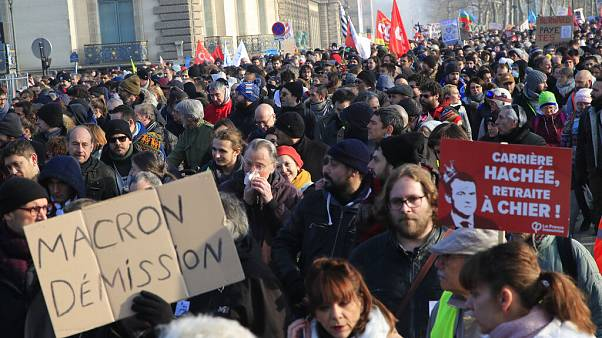 Fresh strikes and protests as Macron pushes ahead with pension reforms