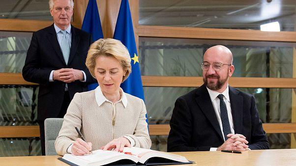 Ursula von der Leyen, Charles Michel, Michel Barnier