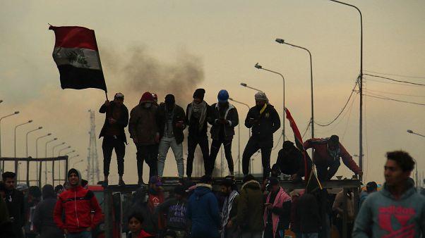 Irak'ın başkenti Bağdat'ta 22 Ocak'ta düzenlenen ABD karşıtı gösteriden