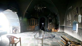 Doğu Kudüs'te Yahudi yerleşimciler tarafından ateşe verilen Bedriye Camisi