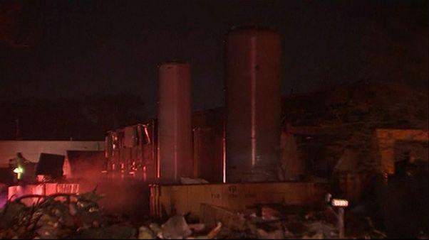 انفجار عنيف في مبنى صناعي يهزّ مدينة هيوستن الأمريكية