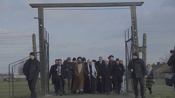 Jewish and Muslim leaders in joint visit to Nazi death camp Auschwitz