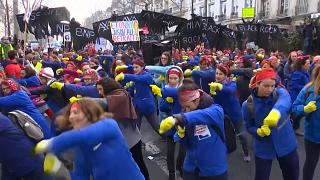 Last-ditch protests and strikes in France over pension reforms
