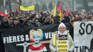 تواصل المظاهرات في فرنسا ضد إصلاح قانون التقاعد