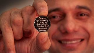 Sajid Javid was given the very first batch of Brexit coins one of which he will present to the Prime Minister this week.