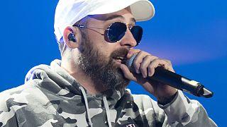Rapper Sido bei einem Festivalauftritt im Jahr 2017