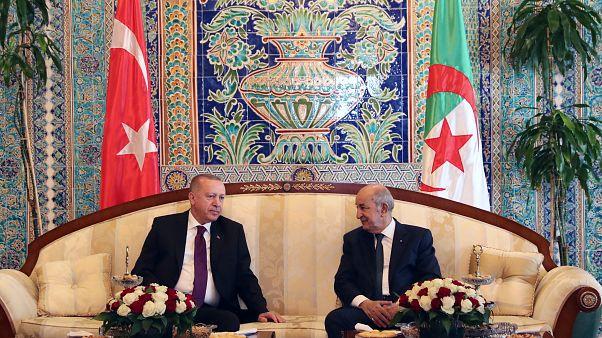 الرئيس الجزائري عبد المجيد تبون ونظيره التركي طيب رجب إردوغان